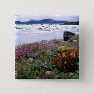 Paintbrush, Lupine, Fireweed. Icebergs Russell Pinback Button