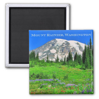 Paintbrush & Lupine Meadows 2 Inch Square Magnet