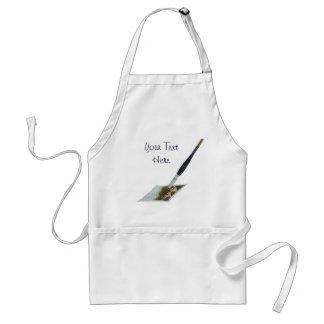 Paintbrush painting landscape art illustration adult apron