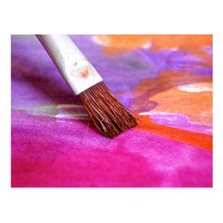 Paintbrush Postcard
