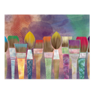 Paintbrushes Postcard