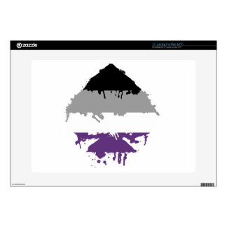"""Paintdrip Asexual Ace 15"""" Laptop Skin"""