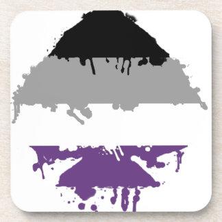 Paintdrip Asexual Ace Beverage Coasters