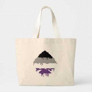 Paintdrip Asexual Ace Canvas Bags
