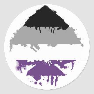 Paintdrip Asexual Ace Classic Round Sticker