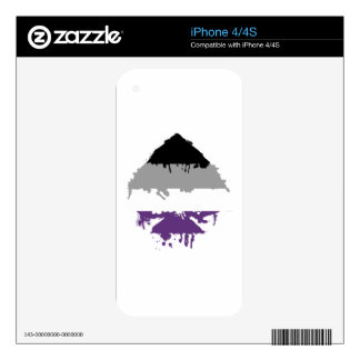 Paintdrip Asexual Ace Decals For iPhone 4