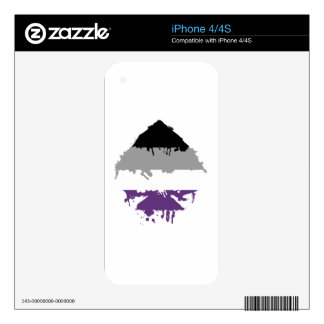Paintdrip Asexual Ace Decals For The iPhone 4