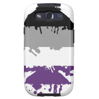 Paintdrip Asexual Ace Galaxy S3 Cases