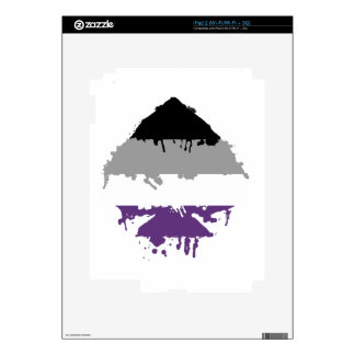 Paintdrip Asexual Ace iPad 2 Decal