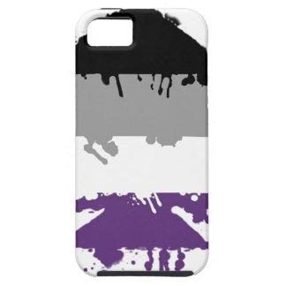 Paintdrip Asexual Ace iPhone 5 Case