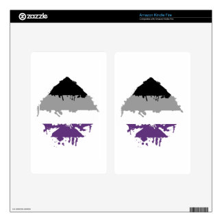 Paintdrip Asexual Ace Kindle Fire Decal