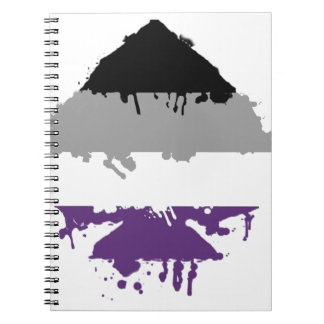 Paintdrip Asexual Ace Notebooks