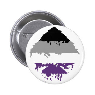 Paintdrip Asexual Ace Pinback Button