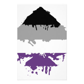 Paintdrip Asexual Ace Stationery