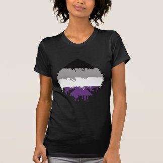 Paintdrip Asexual Ace Tee Shirt