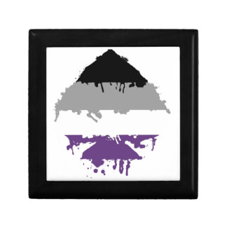 Paintdrip Asexual Ace Trinket Box