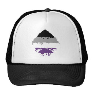 Paintdrip Asexual Ace Trucker Hat