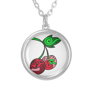 PAINTED CHERRIES PERSONALIZED NECKLACE