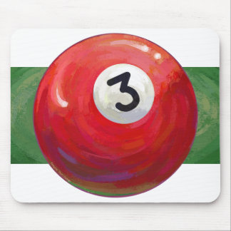 Painted 3 Pool Ball Pattern Mouse Pad