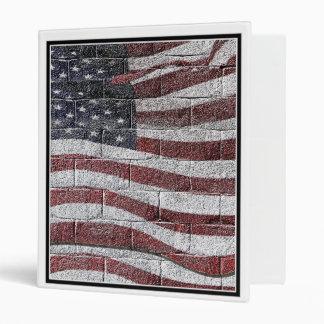 Painted American Flag on Brick Wall Texture Binders