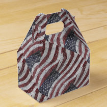 Painted American Flag on Brick Wall Texture Favor Box