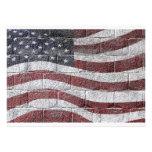 Painted American Flag on Brick Wall Texture Custom Invitations