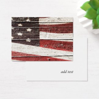 American flag business cards at zazzle painted american flag on rustic wood texture business card colourmoves