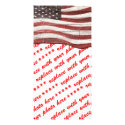 Painted American Flag on Rustic Wood Texture Photo Card