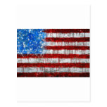 Painted American Flag Post Cards