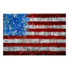 Painted American Flag Poster