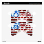 Painted American Flag PS3 Controller Skin
