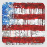 Painted American Flag Stickers