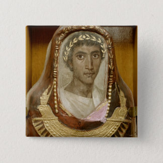 Painted and gilded mummy case of Artemidorus Button