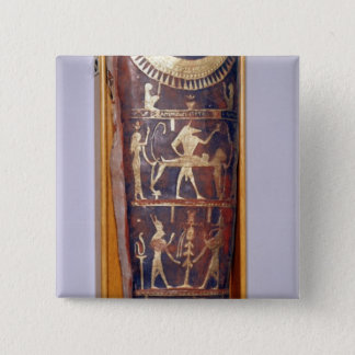 Painted and gilded mummy case of Artemidorus Pinback Button