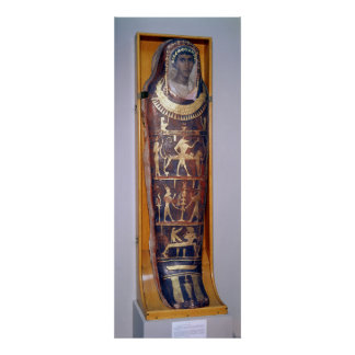 Painted and gilded mummy case of Artemidorus Poster