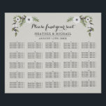 "Painted Anemones - Alphabetical Seating Chart<br><div class=""desc"">Painted Anemones alphabetical wedding seating chart. Part of a wedding collection.</div>"