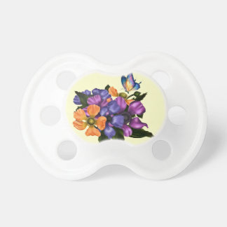 Painted Anemones & Butterfly BooginHead Pacifier
