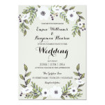 Painted Anemones - floral wedding invitation