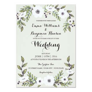 Painted Anemones - Floral Wedding Invitation at Zazzle