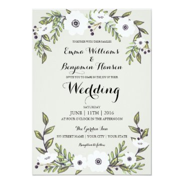 Whimzy_Designs Painted Anemones - floral wedding invitation