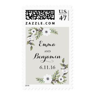 Painted Anemones - invitation stamp