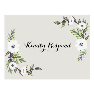 Painted Anemones RSVP Postcard