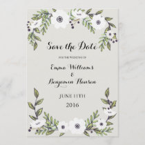 Painted Anemones - Save the Date