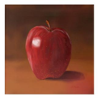 Painted Apple Still Life Acrylic Wall Art