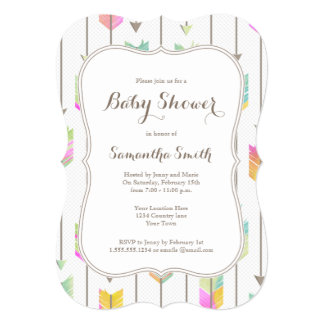 Painted Arrows Baby Shower Invitation