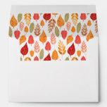 Painted Autumn Leaves Pattern Envelope