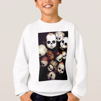 Painted baby doll heads sweatshirt