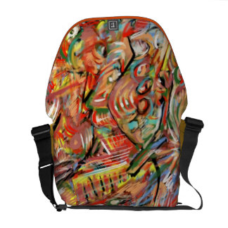Painted bag abstract messenger bag