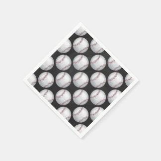 Painted Baseball Pattern Napkin