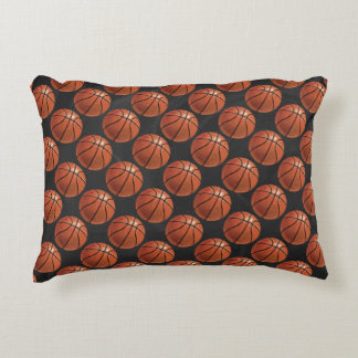 Painted Basketball Pattern Accent Pillow